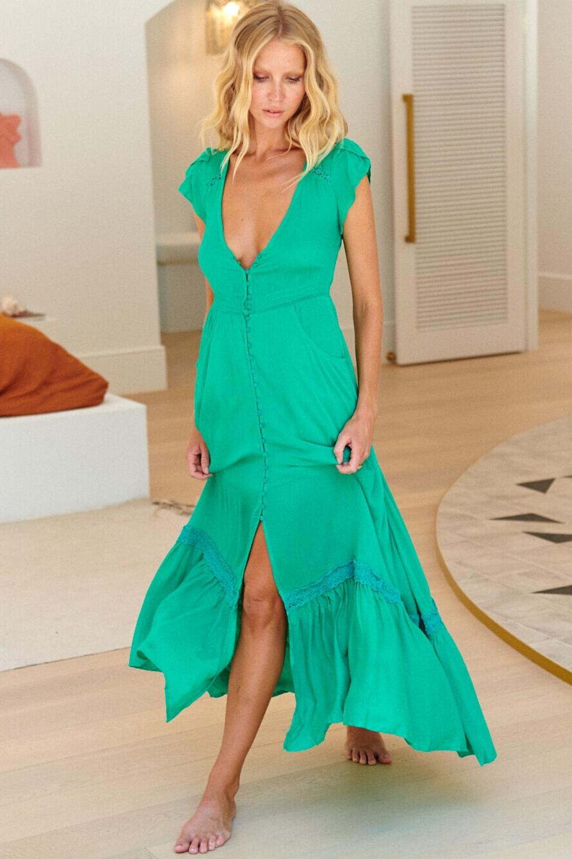 Carmen - Aqua Maxi Dress Save $89.00 AUD