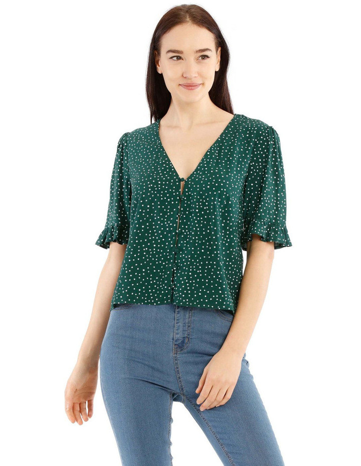 Short Sleeve Button Through Top $49.95
