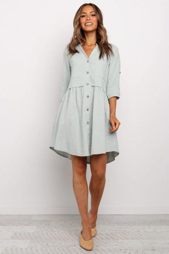 Beckett Dress - Sage $69.95