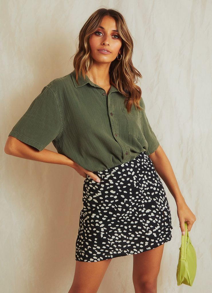 Dril Short Sleeve Shirt - Army Green A$89.99