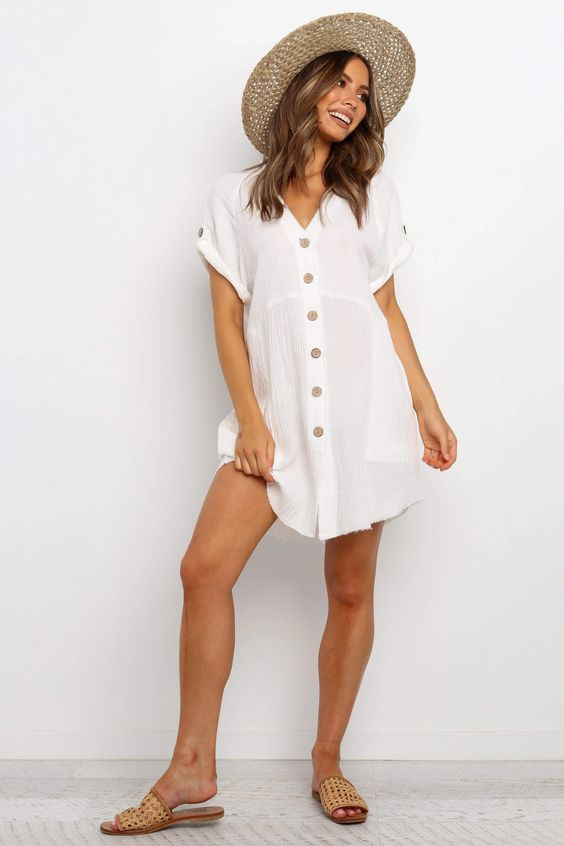 Sariah Dress - White $69.95
