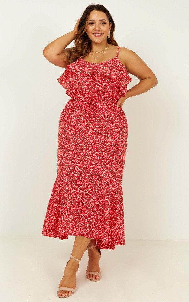 Chasing Butterflies Dress In Red Floral $79.95