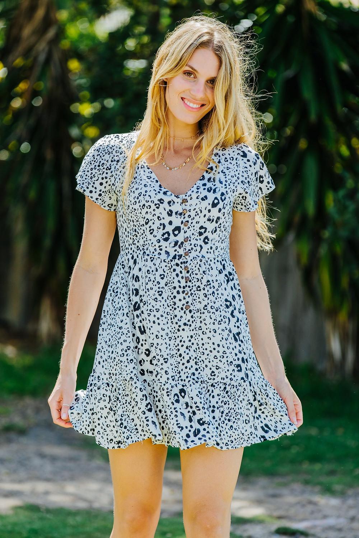 Snow Leopard Mini Dress Save $31.00 AUD $65.00 AUD