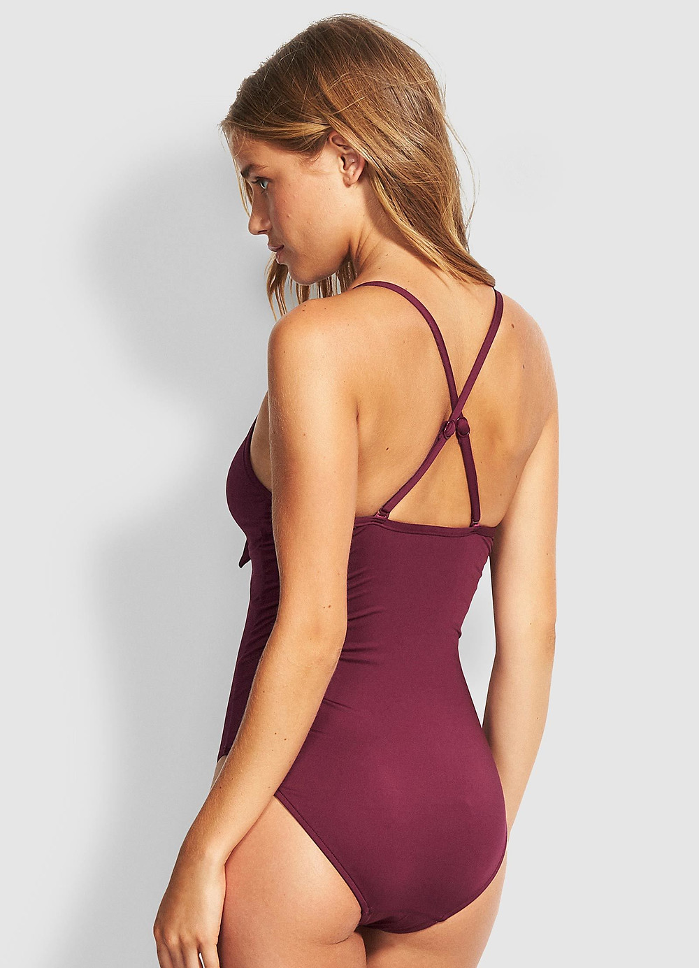 SEAFOLLY TIE FRONT ONE PIECE AUD $169.95 AUD $76.48