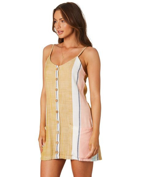 RIP CURL Sunsetters Stripe Dress Details $79.99