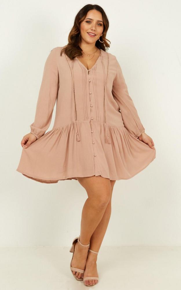 Unlike Anything Dress In Mocha Price: AU$69.95 AU$49.00