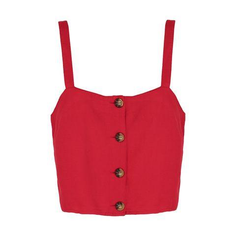Sleeveless Button Cami $12.00