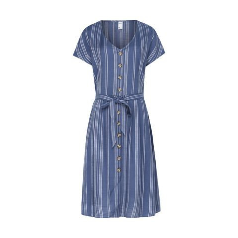 Short Sleeve Button Midi Dress $25.00