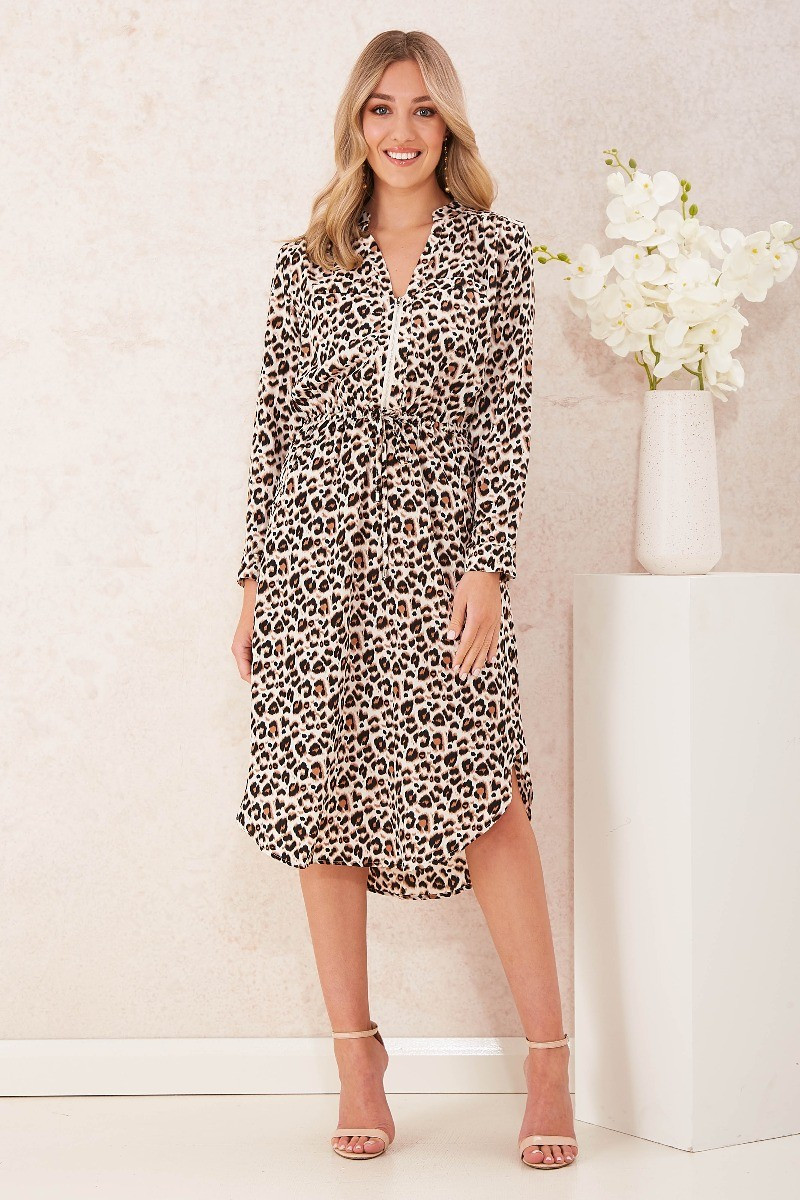 Rival Dress In Leopard Print Special Price $39.00 (Was $79.90)