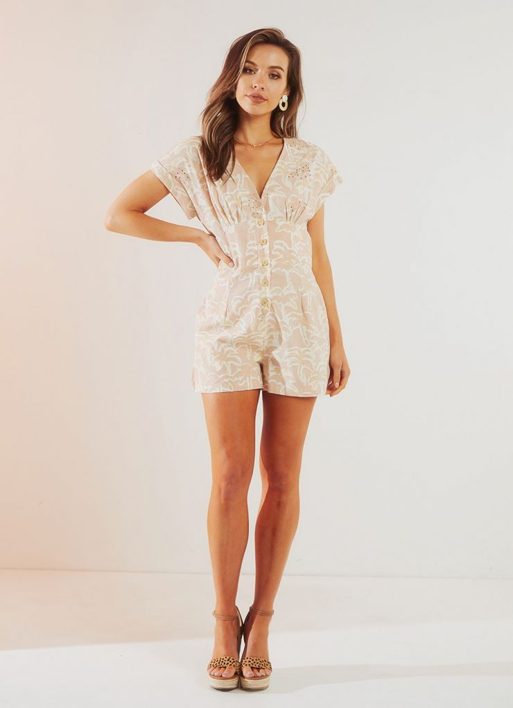 Tuesday Playsuit - Pink Floral A$69.95