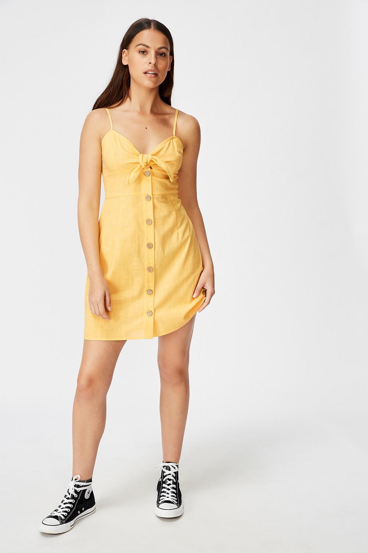 Tie Front Button Through Dress $29.95