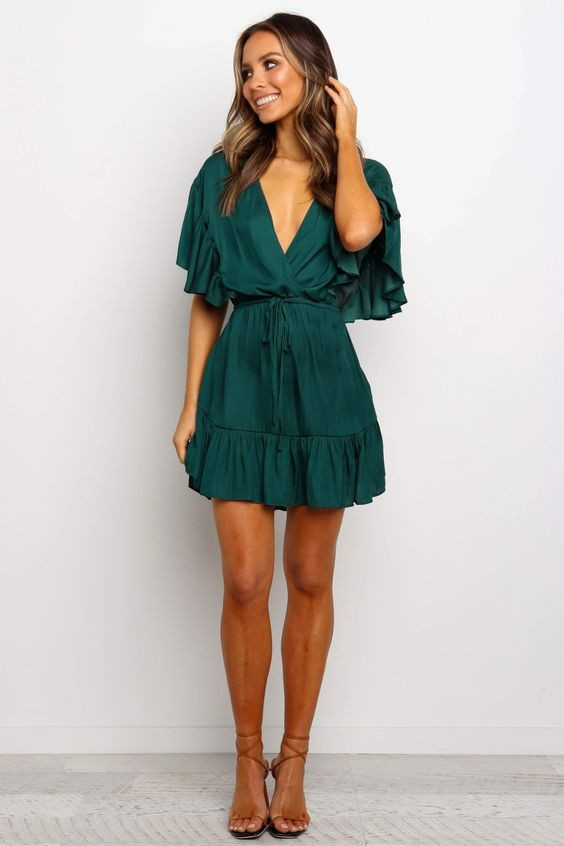 Selintino Dress - Emerald $59.95