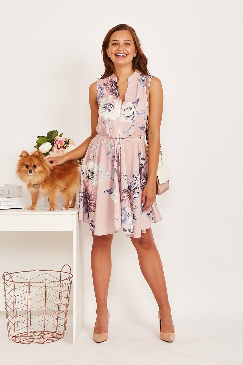 Danica Dress In Blush Floral $69.90