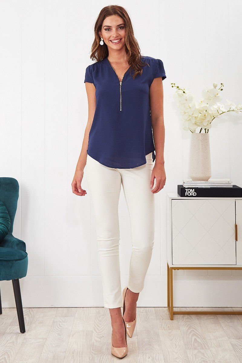 Leigh Top In Navy $49.90