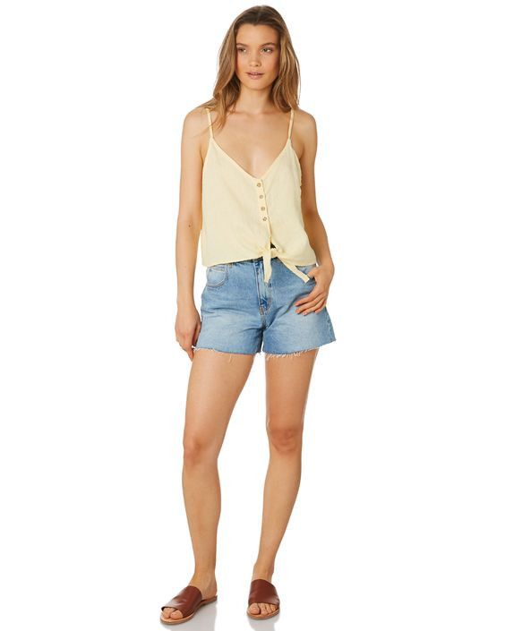 RHYTHM Womens Amalfi Linen Top Details Was $69.99 Now $34.99