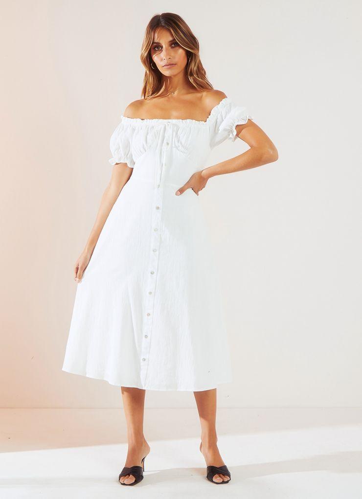 Miss Daisy Dress - White A$84.95