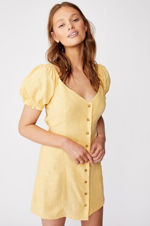 Woven Aurora Short Sleeve Mini Dress $39.99