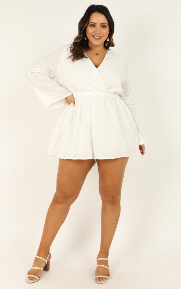 Beyond The Limit Playsuit In White Price: AU$69.95 AU$35.00