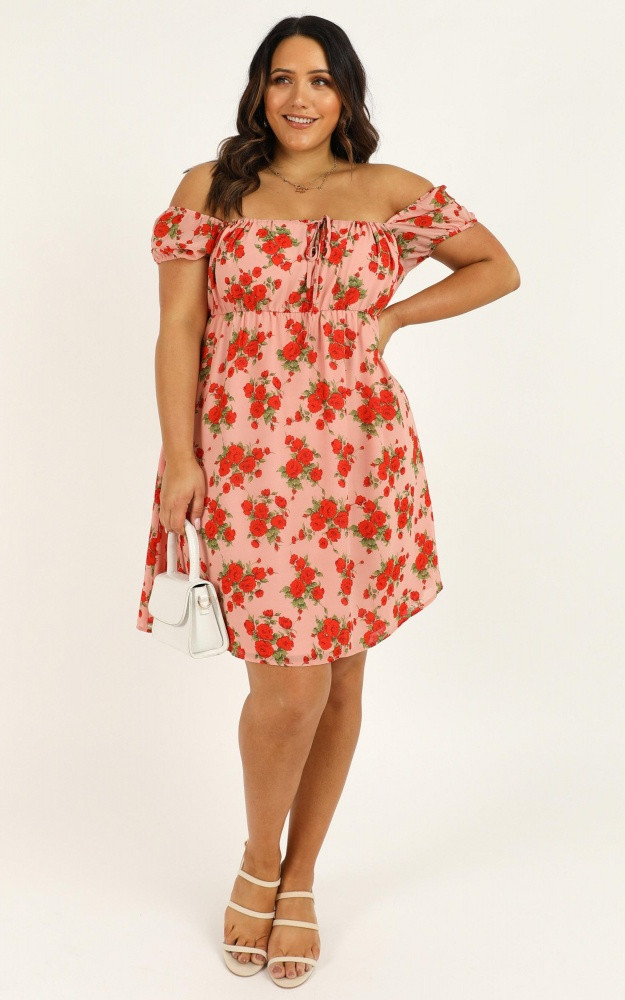 Lunch Date Dress In Peach Floral Price: AU$64.95 AU$45.00