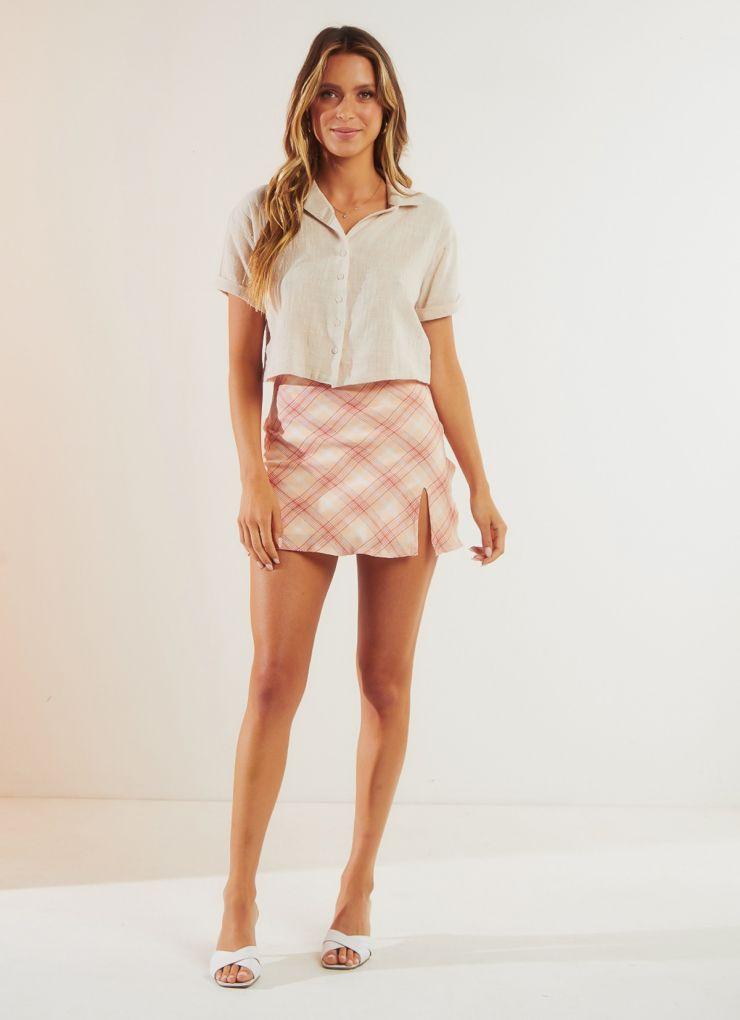 Kasey Shirt - Beige A$49.95