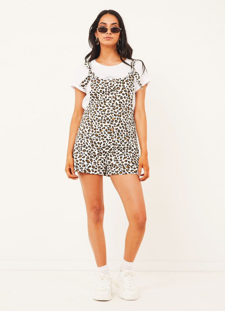 Chiara Overalls - Leopard Print Now $55.96 (Was $69.95)
