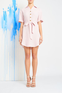 MYRIAM SHIRT DRESS PINK $19.99