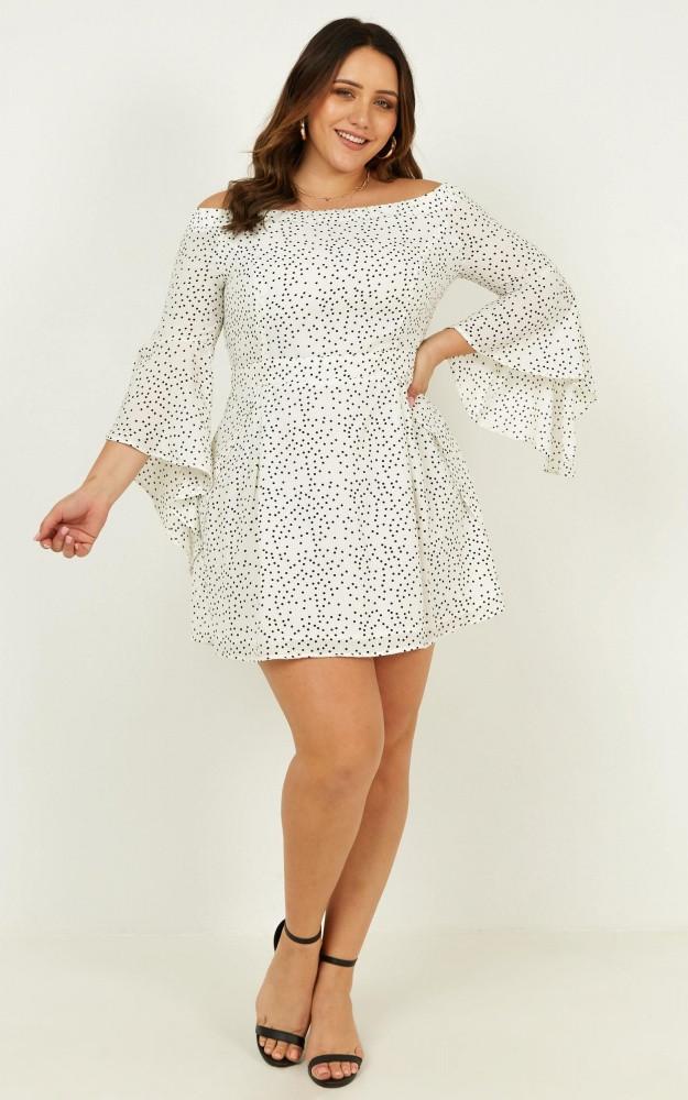 Break My Heart Dress In White Spot Price: AU$69.95 AU$42.00