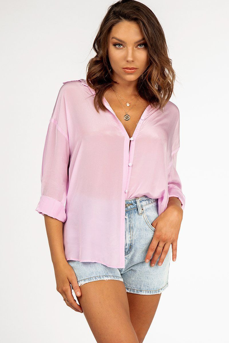 HARVEY LILAC BUTTON SHIRT DISSH EXCLUSIVE  $69.99