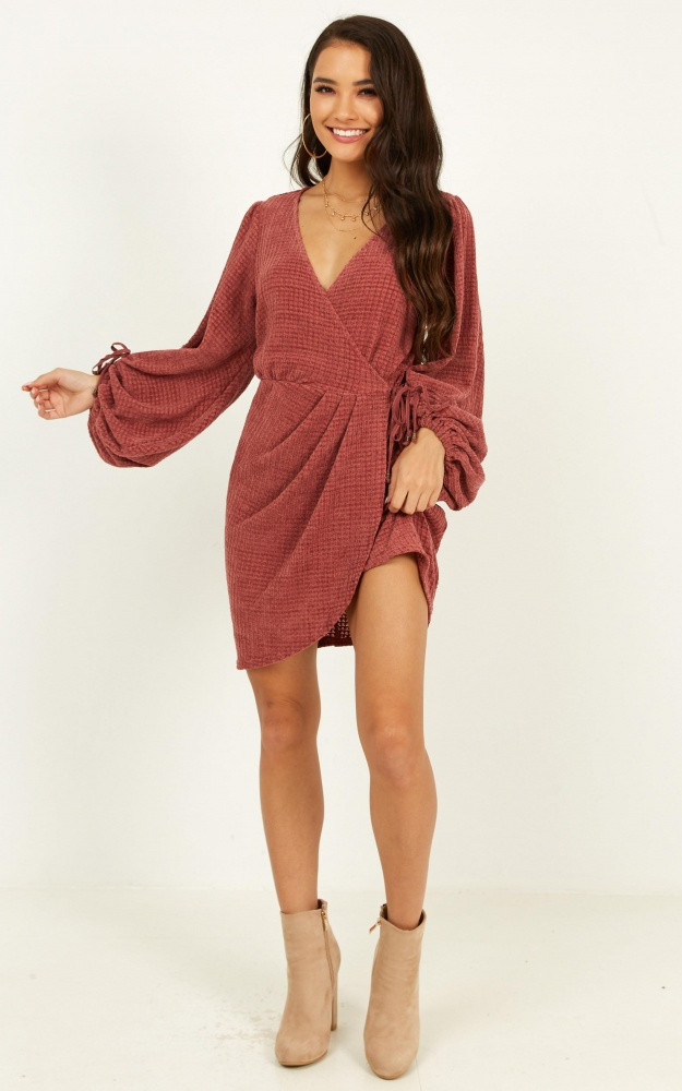 Sea Of Sounds Knit Dress In Dusty Rose Price: AU$89.95 AU$35.00