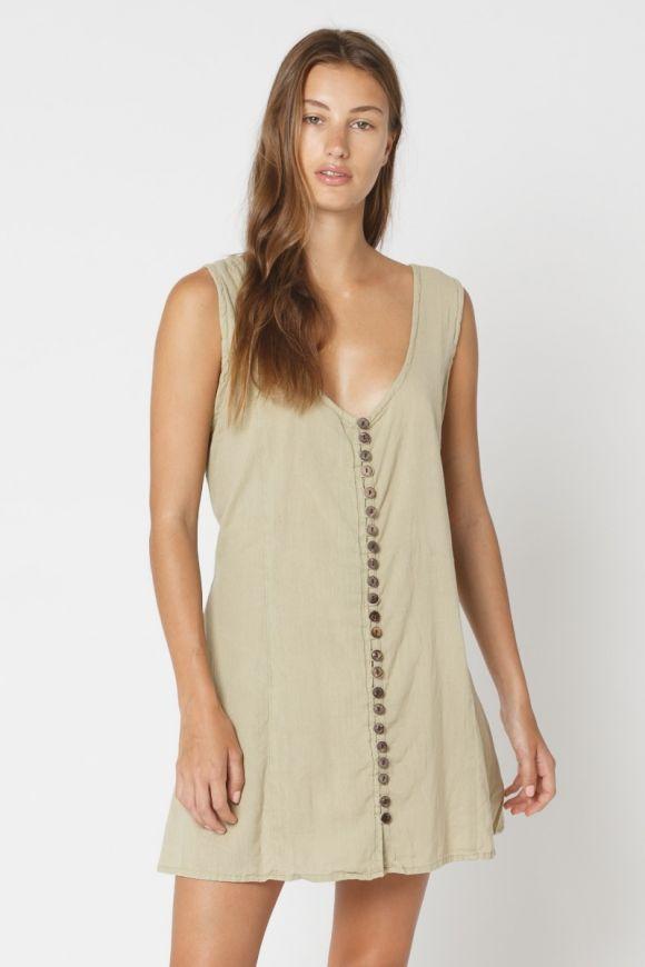 Khaddar Button Dress Special Price $39.96 $49.95