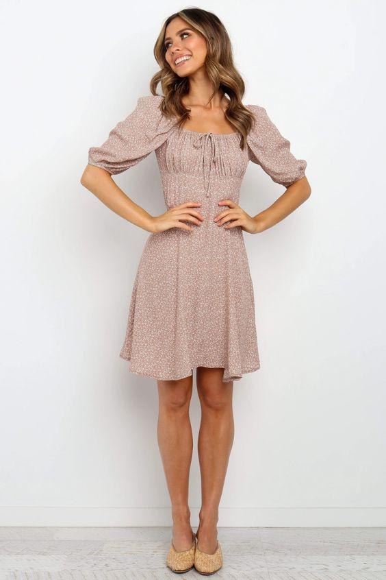 Katara Dress - Dusty Pink $69.95