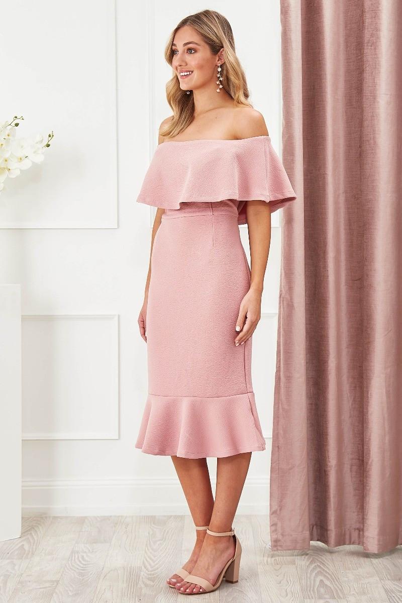Chasing Kate Hepburn Dress In Blush Special Price $29.00  $99.90