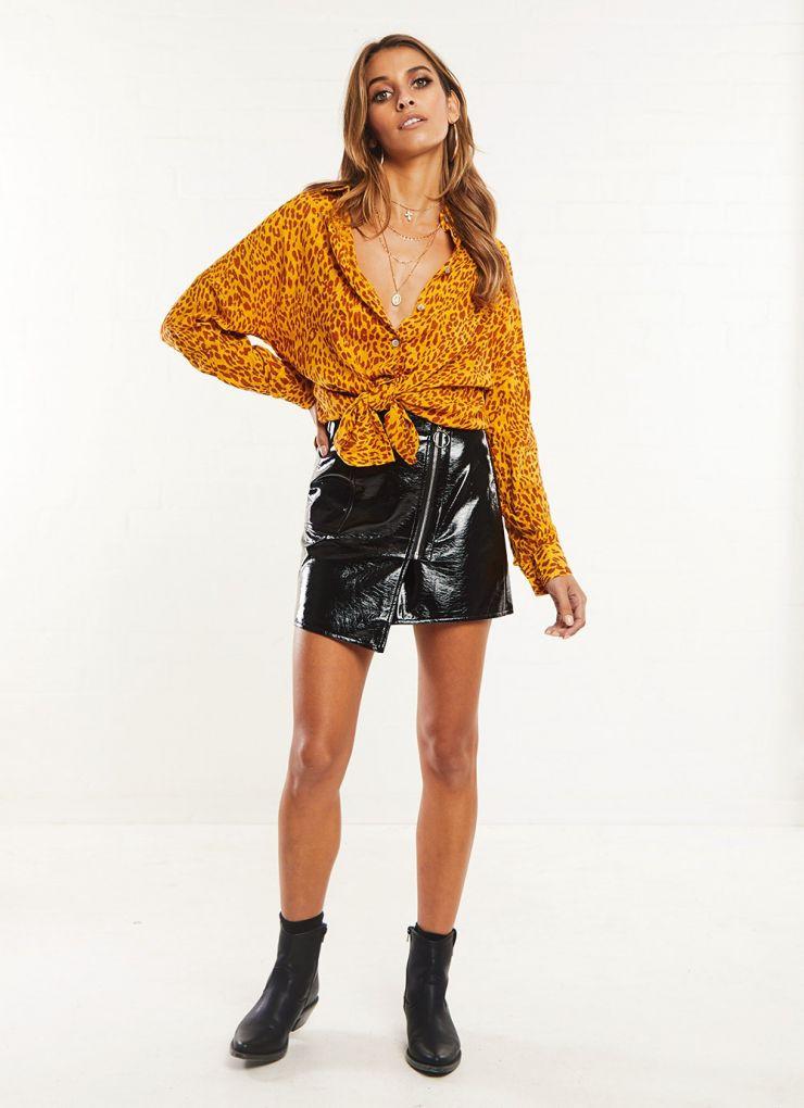 Dacian Shirt - Yellow Leopard Now $35.97 (Was $59.95)