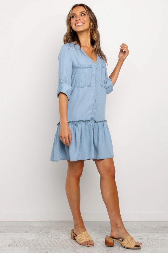 Mariella Dress - Blue $79.95