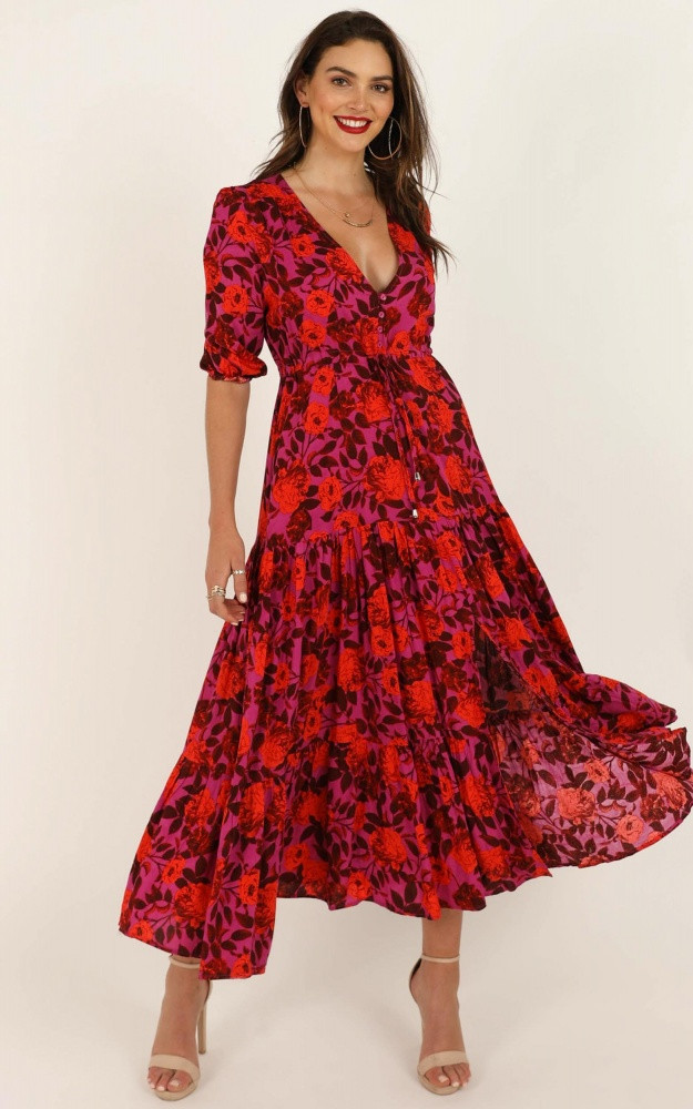 Waiting So Long Dress In Pink Floral $79.95