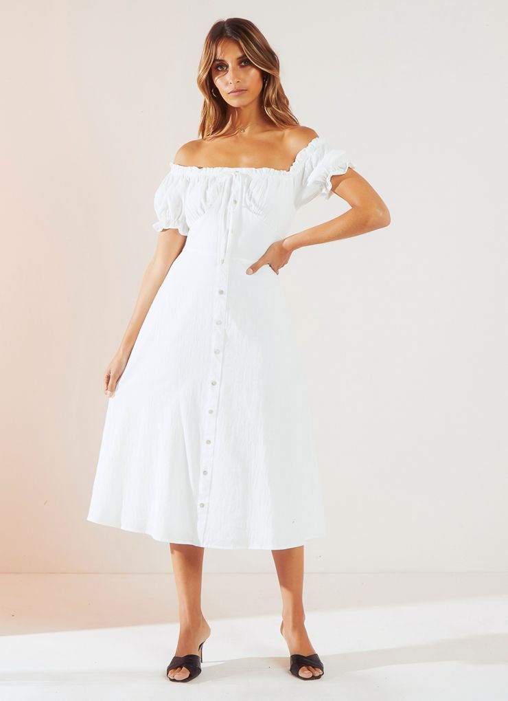 Miss Daisy Dress - White A$84.95