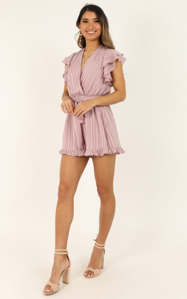 Just Stay On Track And Never Look Back Playsuit In Blush Price: AU$64.95 AU$32.00