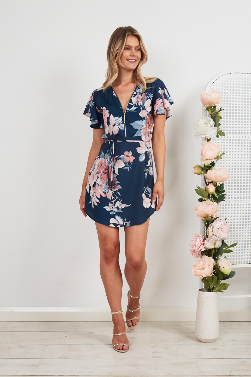 Torie Dress In Teal Floral $69.90