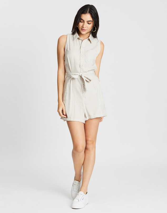 BOOHOO Button Through Turn Up Playsuit  $39.95