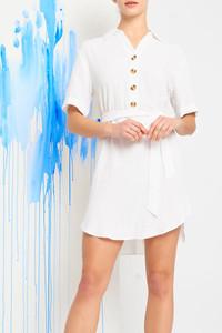 MYRIAM SHIRT DRESS WHITE $19.99