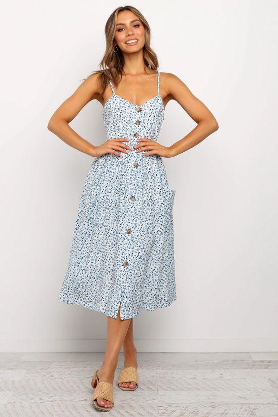 Hendra Dress - Blue $59.95