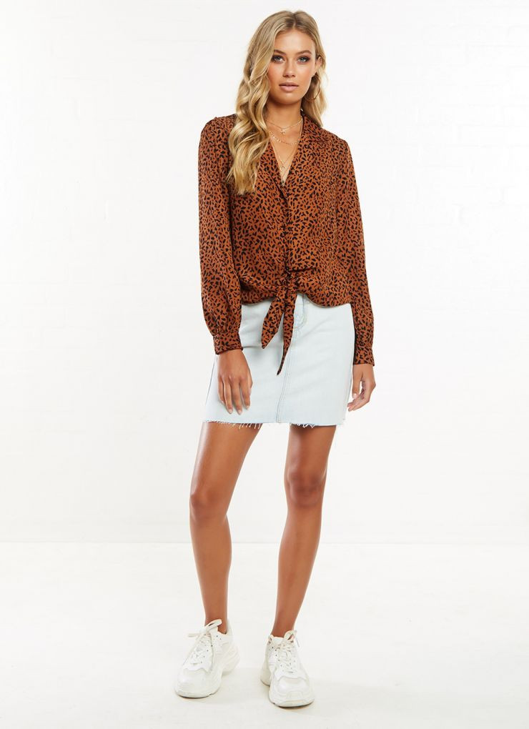 Zara Shirt - Chocolate Speckle Print Now $35.97 (Was $59.95)