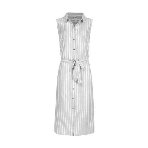 Sleeveless Midi Shirt Dress $20.00