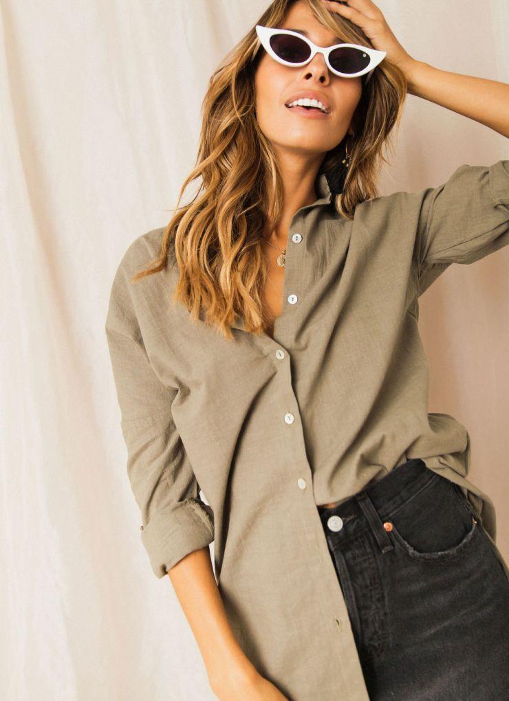 Quiilimia Shirt - Khaki Now $29.97 (Was $49.95)