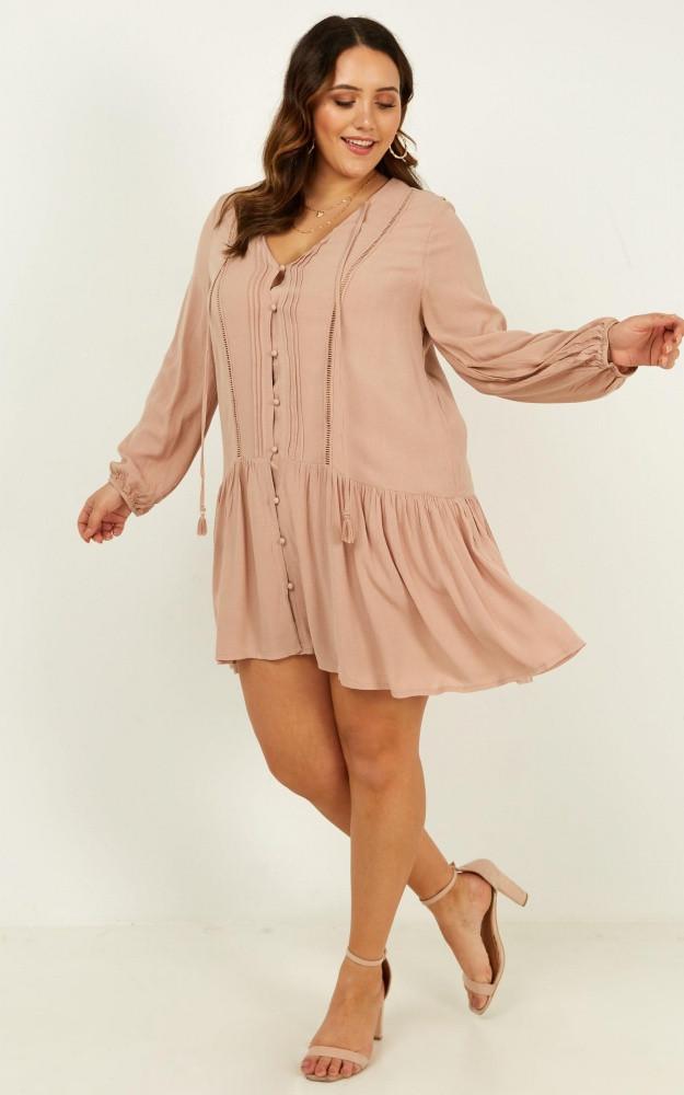 Unlike Anything Dress In Mocha $69.95