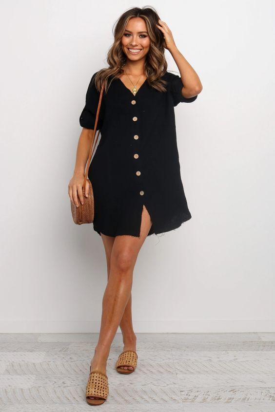 Mykonos Dress - Black $69.95