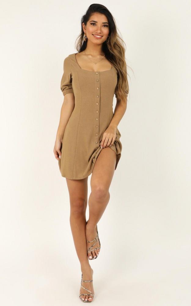 Lets Do This Dress In Mocha Price: AU$64.95 AU$39.00
