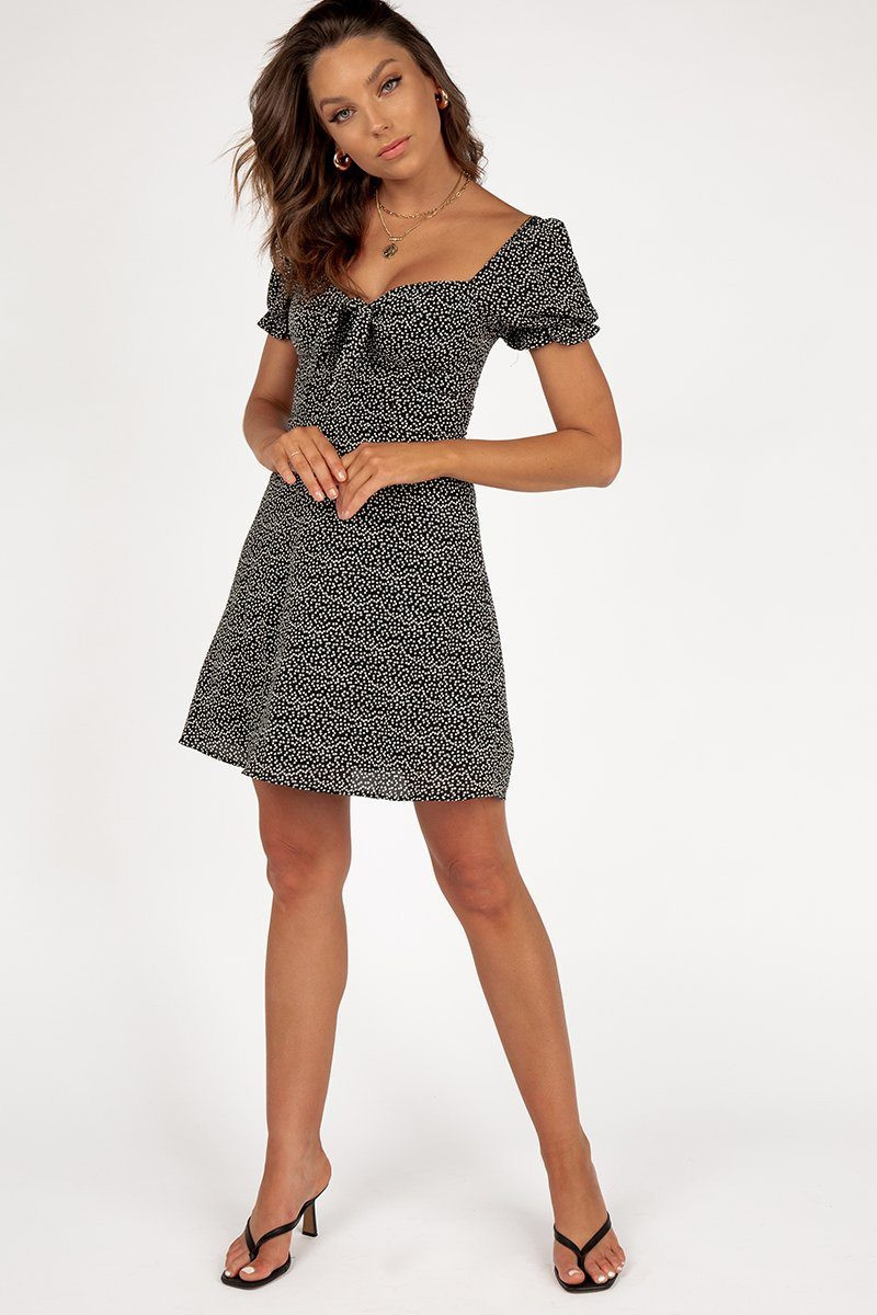 FRIENDS AND LOVERS BLACK MINI DRESS DISSH EXCLUSIVE  $69.99