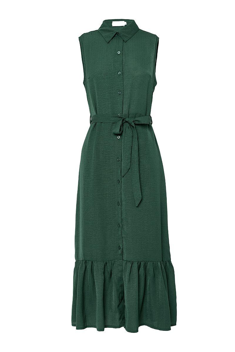 ZINDY SLEEVELESS SHIRT DRESS $17.99