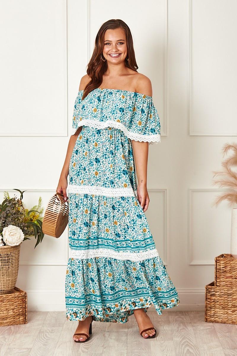 Wilder Maxi Dress In Bohemian Floral $89.90